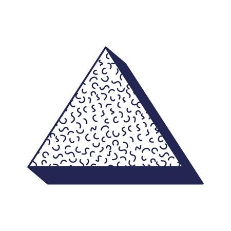 triangle geometric figure with ninetys pattern vector illustration design