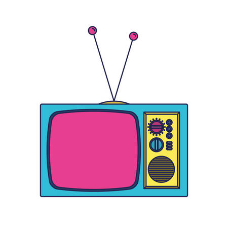 retro tv ninetys icon vector illustration design Vectores
