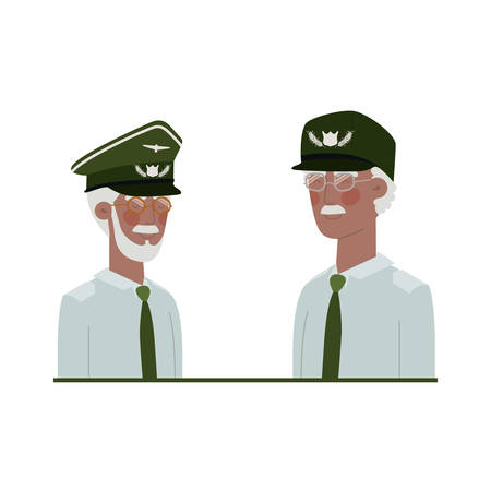 men soldiers of war avatar character vector illustration design Illusztráció