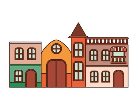 neighborhood houses isolated icon vector illustration design Illusztráció