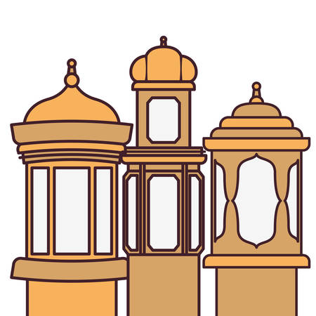 ramadan kareem lantern isolated icon vector illustration design