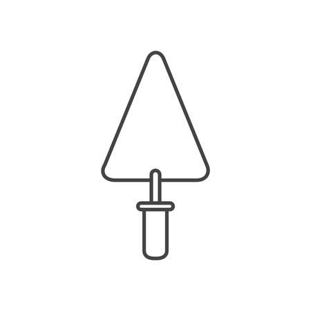 Espátula herramienta icono aislado diseño ilustración vectorial
