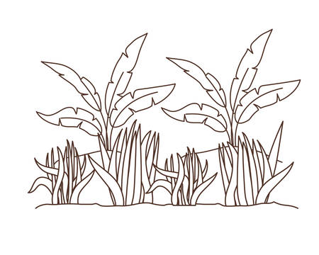 plant in landscape isolated icon vector illustration design Ilustracja