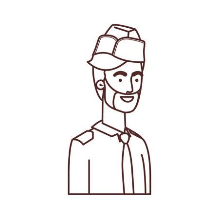 man soldier of war avatar character vector illustration design