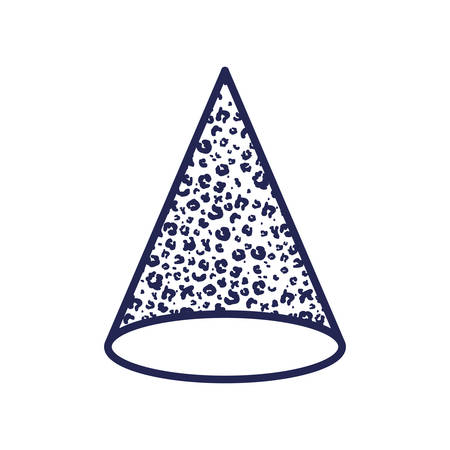 cone with animal print pattern ninetys style vector illustration design