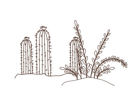 plant in landscape isolated icon vector illustration design  イラスト・ベクター素材