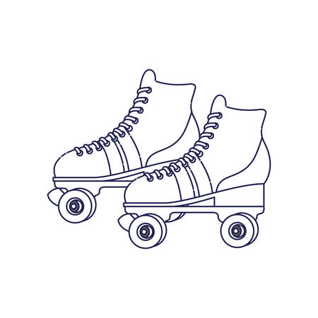 skate rollers ninetys icon vector illustration design Ilustracja
