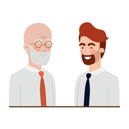 father with son avatar character vector illustration design 스톡 콘텐츠 - 122468474