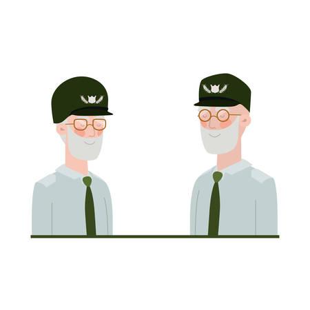 war veterans avatar character vector illustration design Illustration