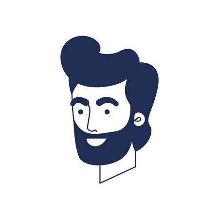 head of man avatar character vector illustration design Çizim