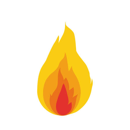 fire flame isolated icon vector illustration design Stock Vector - 122230103