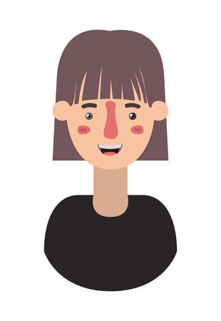 beautiful and young woman character vector illustration design Vettoriali