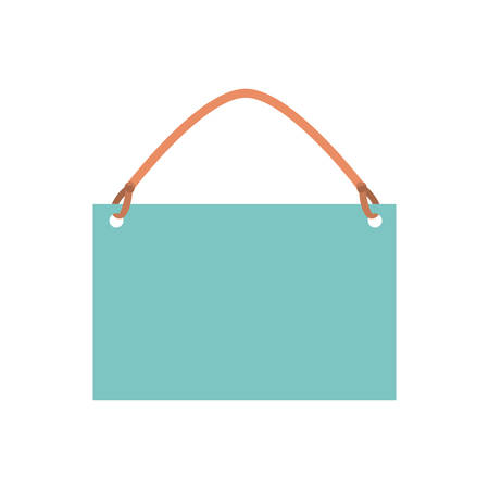 hang tag on white background icon vector illustration design