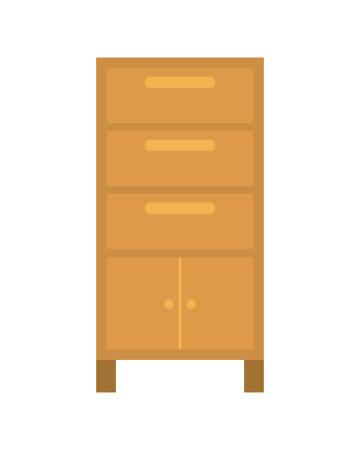 wooden shelving in white background icon vector illustration design Stok Fotoğraf - 122712693