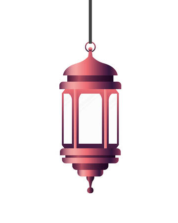 ramadan kareem lantern hanging icon vector illustration design