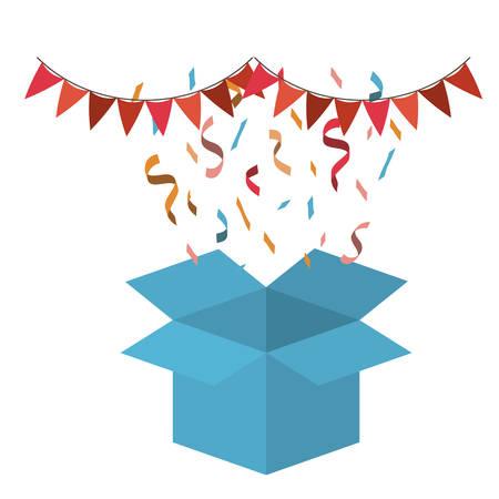 open cardboard box isolated icon vector illustration design