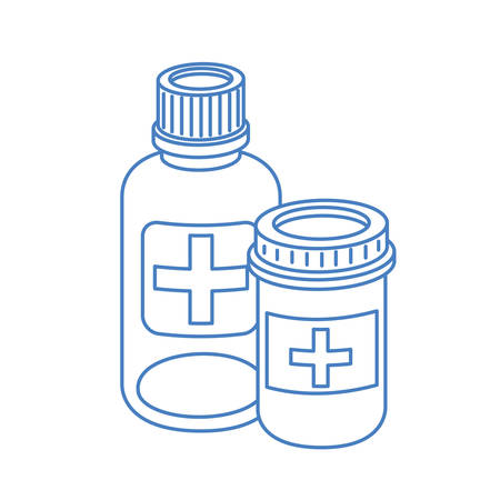 medicine drugs on white background vector illustration design