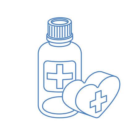 medicine drugs on white background vector illustration design