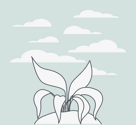 marine plants ecosystem scene vector illustration design Stock Vector - 123509017