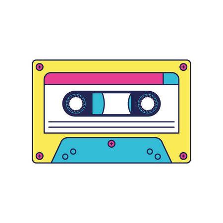 retro cassette music icon vector illustration design Vettoriali