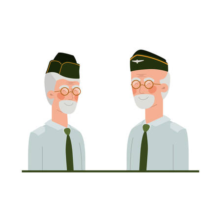 war veterans avatar character vector illustration design Vettoriali