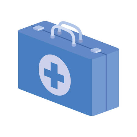first aid kit on white background vector illustration design Illustration