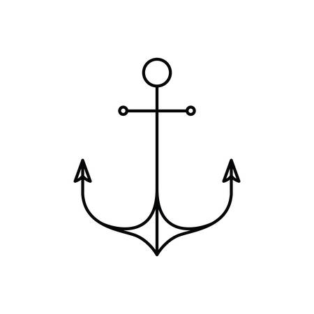 anchor silhouette on white background vector illustration design