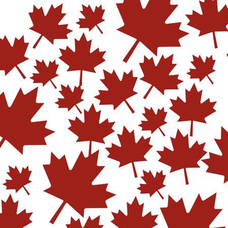 Maple leaf background design, Canada plant floral garden nature decoration ornament and season theme Vector illustration