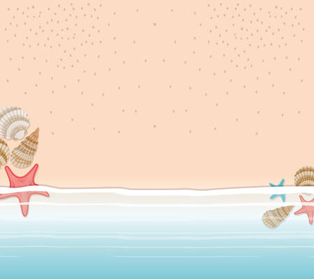 Seashell and seastar design, Nature beach summer marine exotic decoration and aquatic theme Vector illustration