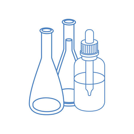 laboratory instruments in white background vector illustration design Illustration