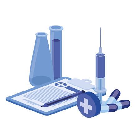 medicine drugs on white background vector illustration design Ilustração Vetorial