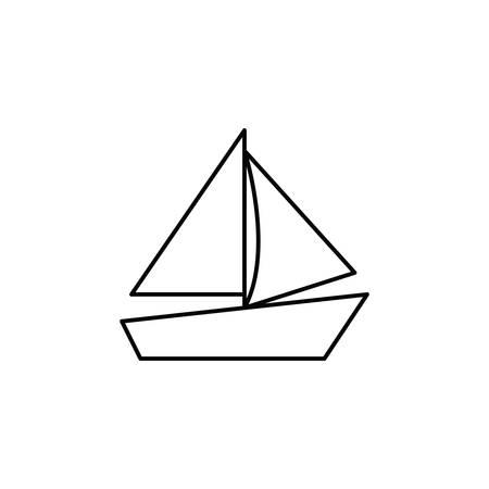 silhouette of sailboat on white background vector illustration design Illustration