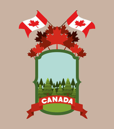 Maple leaf and canada design, Culture national country travel and tourism theme Vector illustration Imagens - 124728040