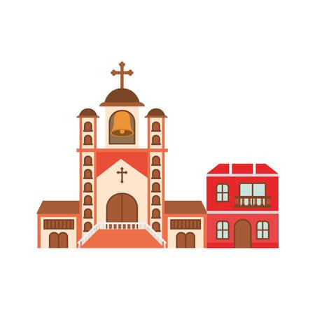 neighborhood houses isolated icon vector illustration design Illustration