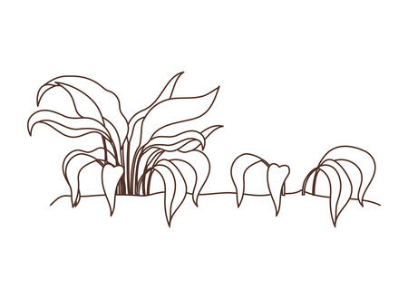 plant in landscape isolated icon vector illustration design Illustration