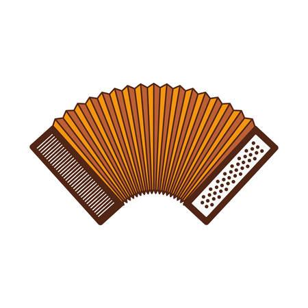 cute accordion isolated icon vector illustration design Vektorgrafik