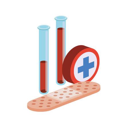 laboratory instruments in white background vector illustration design Çizim