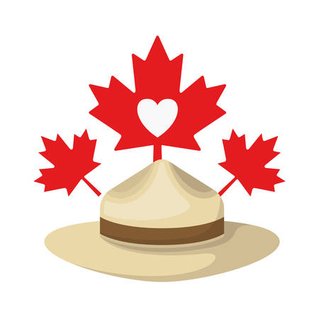 Maple leaf hat and canada design, Culture national country travel and tourism theme Vector illustration