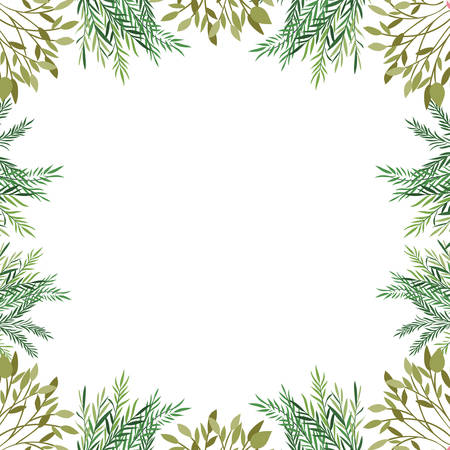 pattern with branches and leaf icon vector illustration design