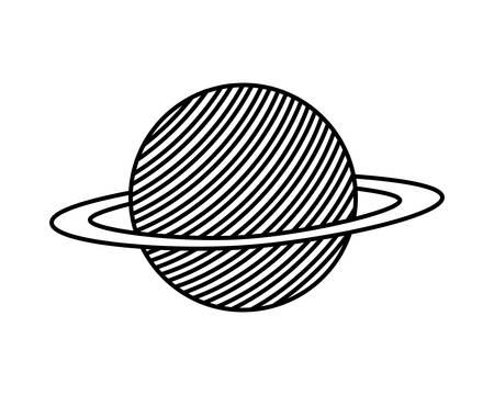 planet of the solar system isolated icon vector illustration design Ilustração