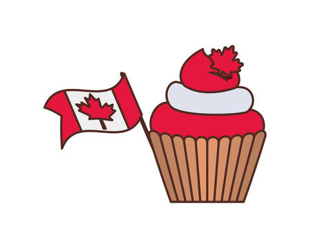 Cupcake and canada design, Culture national country travel and tourism theme Vector illustration 일러스트