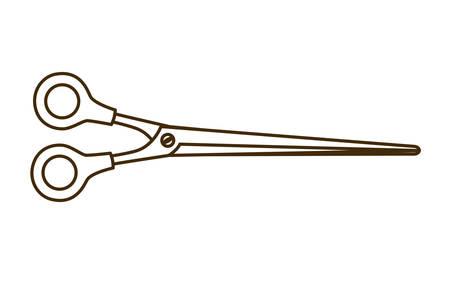 scissor closed on white background icon vector illustration design