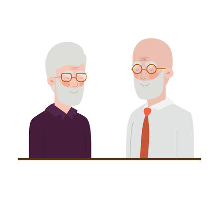 cute grandparents avatar character vector illustration design Ilustração