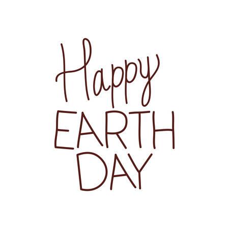 happy earth day label icon vector illustration design Ilustração