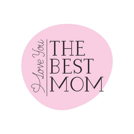 mom i love you label isolated icon vector illustration design