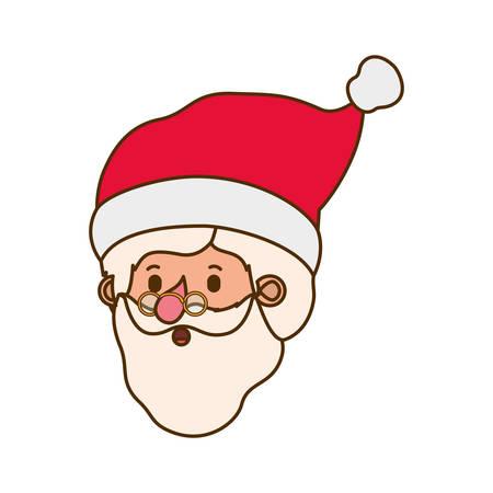 head santa claus avatar character vector illustration design  イラスト・ベクター素材