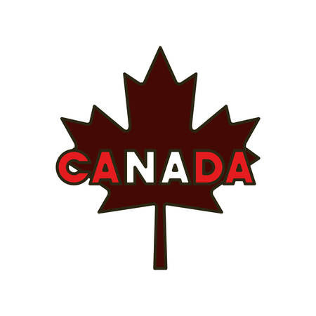 Maple leaf and canada design, Culture national country travel and tourism theme Vector illustration