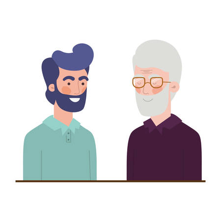 father with son avatar character vector illustration design Banque d'images - 125065684
