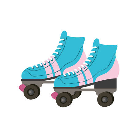 skate rollers ninetys icon vector illustration design Ilustrace