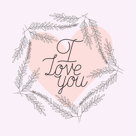 love card with herbs drawn frame vector illustration design Illusztráció